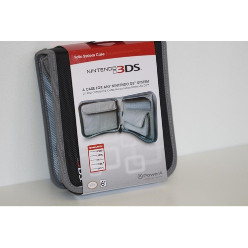 64 - X4 Brand New Folio System Case For Official Nintendo 3DS case for any DS system 2DS / 3DS/ 3DSxl / D...