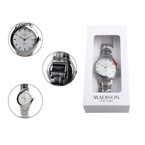 1 - Brand Name: Madison New York Part Number: G3255/1 Display Type: Analogue Band Material: Stainless St...