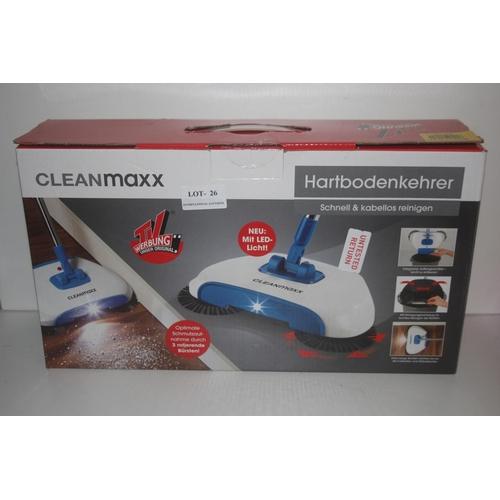 26 - GRADE U- BOXED CLEANMAXX HARTBODENKEHRER FLOOR CLEANER, RRP- £19.00...