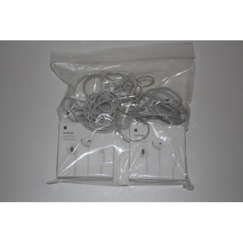 38 - GRADE U- X5 ASSORTED BOXED & UNBOXED APPLE EARPODS RRP �29.99 EACH...