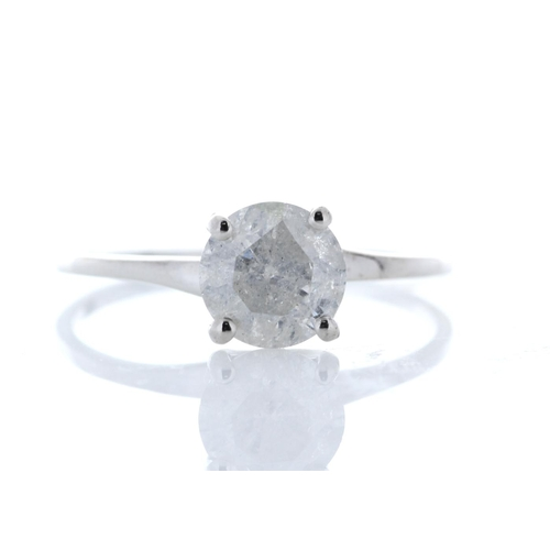 44 - Valued by GIE _12,395.00 - 18ct White Gold Single Stone Prong Set Diamond Ring 1.09 Carats - 3103177...