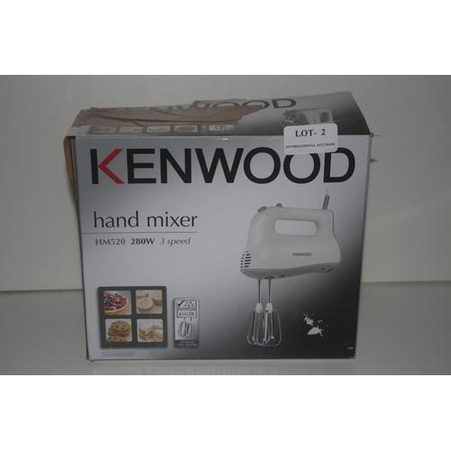 2 - GRADE U- BOXED KENWOOD HAND MIXER MODEL: HM520 RRP �30...