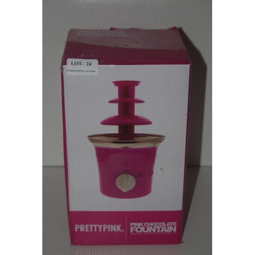 24 - GRADE U- BOXED PRETTY PINK CHOCOLATE FOUNTAIN FOR DIPPING FUN RRP �20...