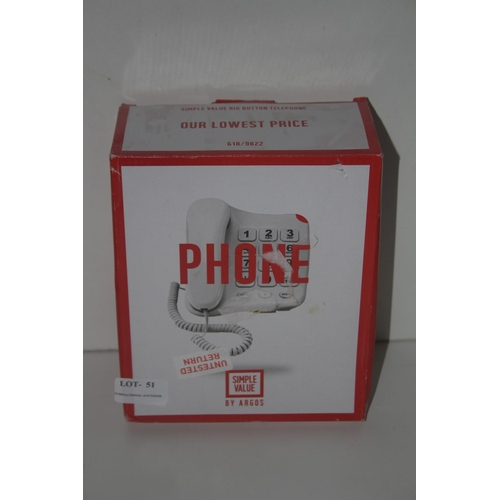 52 - GRADE U- X2 BOXED CORDED HOME PHONES...