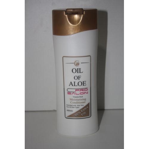 59 - X12 BRAND NEW OIL OF ALOE PRO SALON MOISTURE RICH CONDITIONER 400ML BOTTLES EACH...
