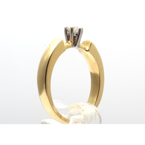 4 - Valued by GIE _7,595.00 - 18ct Single Stone Fancy Claw Set Diamond Ring G SI2 0.20 Carats - 1106019,...