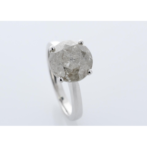 46 - Valued by GIE _56,150.00 - 18ct White Gold Single Stone Prong Set Diamond Ring 5.00 Carats - 3103181...