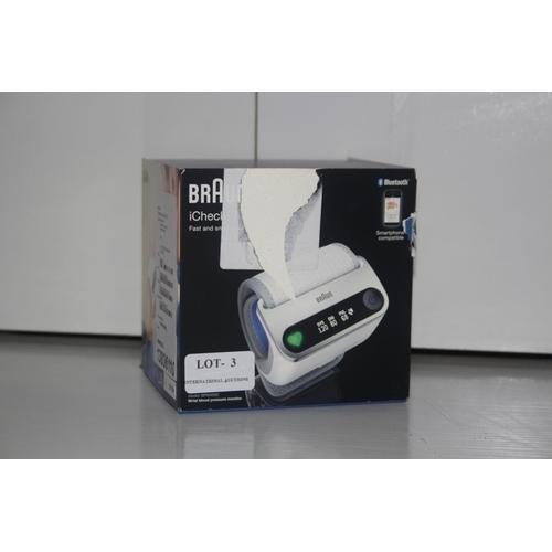 3 - GRADE U- BOXED BRAUN I CHECK, MODEL- 13719TAV, RRP-£99.99...