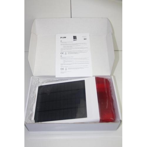 101 - GRADE U- BOXED SOLAR POWERED OUTDOOR SIREN MODEL: 005107 RRP-£150...