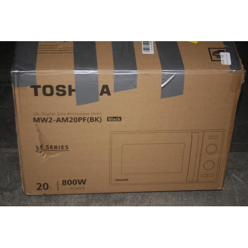 153 - GRADE U- BOXED TOSHIBA 20L DIGITAL SOLO MICROWAVE OVEN MODEL: MW2-AM20PF (BK RRP-£70...