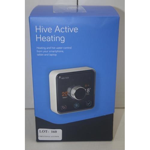 160 - GRADE U- BOXED HIVE ACTIVE HEATING THERMOSTAT, RECIEVER &  HUB UK7004196 RRP-£170.00...