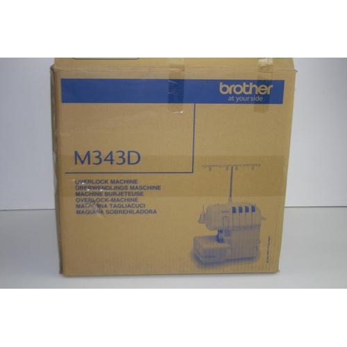 162 - GRADE U- BOXED BROTHER OVERLOCK SEWING MACHINE MODEL: M343D RRP-£199.99...