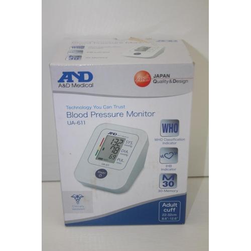 192 - GRADE U- BOXED A&D MEDICAL BLOOD PRESSURE MONITOR MODEL: UA-611 RRP-£39.99...