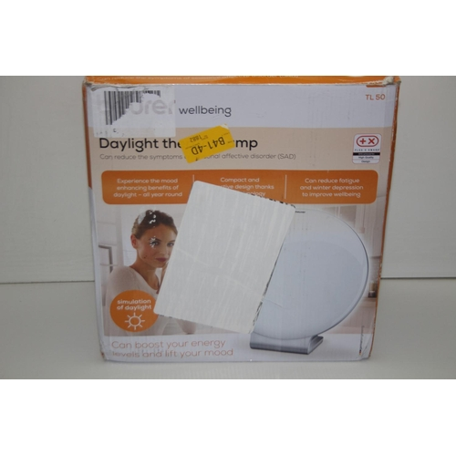 1 - GRADE U- BOXED BEURER WELLBEING DAYLIGHT THERAPY LAMP MODEL: TL50 RRP-£75.00...