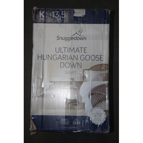 16 - GRADE U- BOXED SNUGGLEDOWN ULTIMATE HUNGARIAN GOOSE DOWN DUVET 13.5TOG, 100% COTTON, 300 THREAD COUN...