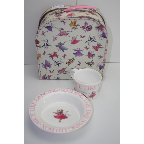 19 - GRADE U- UNBOXED EMMA BRIDGEWATER CUP AND BOWL IN A CASE...