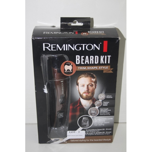 3 - GRADE U- BOXED REMINGTON BEARD KIT MODEL NO. MB4045...