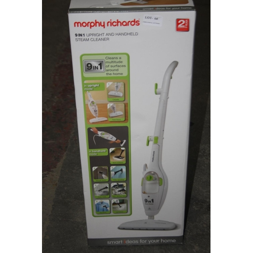 64 - GRADE U- BOXED MORPHY RICHARDS 9-IN-1 UPRIGHT AND HANDHELD STEAM CLEANER MODEL NO. 720020 RRP-£64.99...