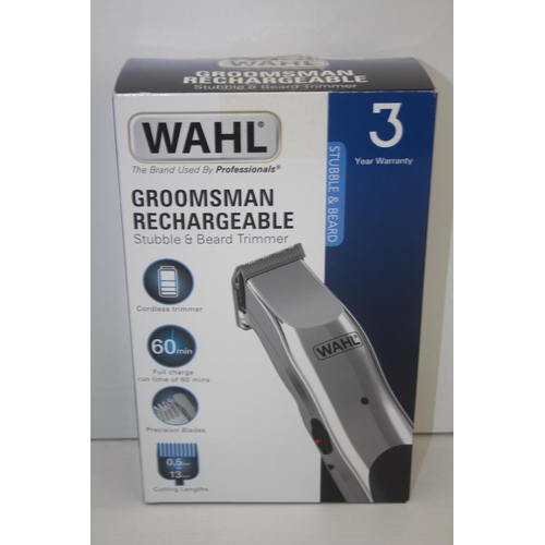 213 - GRADE U- BOXED WAHL GROOMSMAN RECHARGEABLE STUBBLE & BEARD TRIMMER...