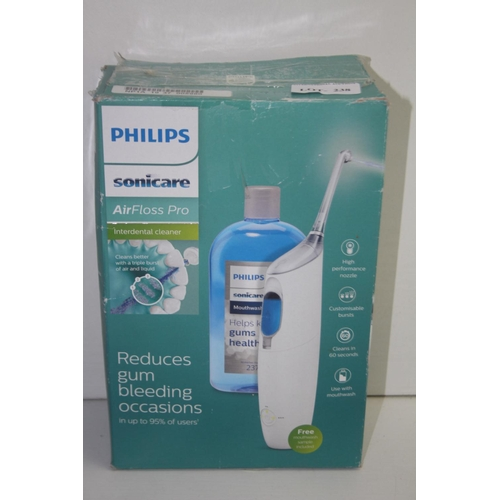 238 - GRADE U- BOXED PHILIPS SONICARE AIR FLOSS PRO INTERDENTAL CLEANER MODEL: HX8472-11 RRP-£80.00...