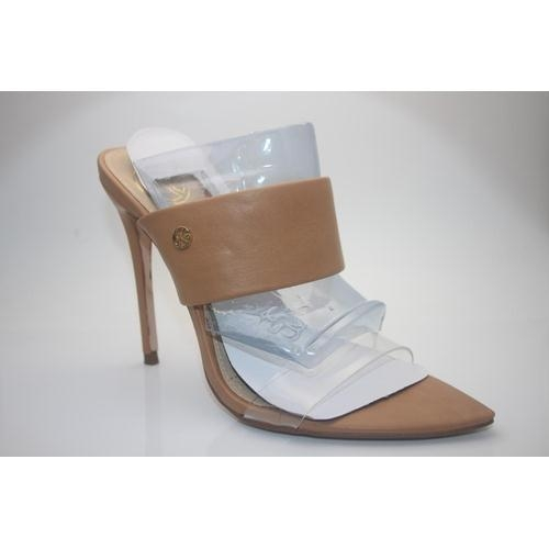 255 - GRADE A- BOXED BRAND NEW KURT GEIGER LADIES FAYE NUDE SYNTHETIC OCCASION SHOES EURO SIZE 38 RRP 89.9...