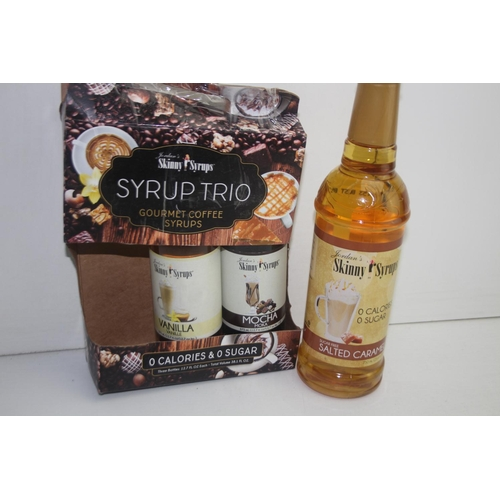 267 - GRADE U- 3X ASSORTED COFFEE SYRUPS (IMAGE DEPICTS STOCK)...