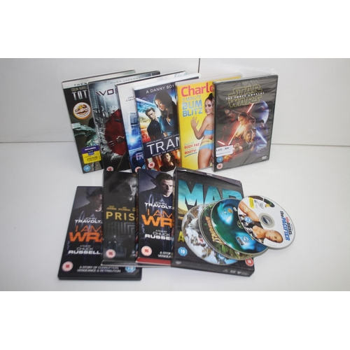 309 - GRADE U- 14X ASSORTED DVD'S (IMAGE DEPICTS STOCK)...