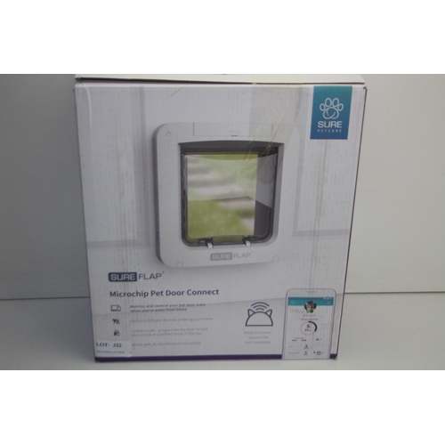 322 - GRADE U- BOXED SURE FLAP MICROCHIP PET DOOR CONNECT RRP-£139.99...