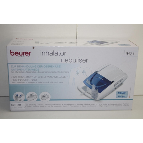 323 - GRADE U- BOXED BEURER MEDICAL INHALATOR NEBULISER  MODEL: IH21 RRP-£55...