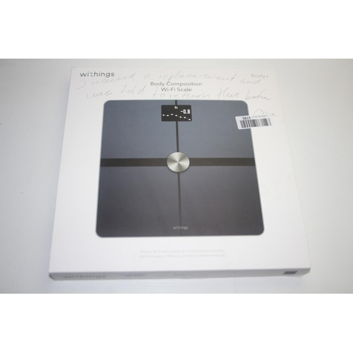 331 - GRADE U- BOXED WITHINGS BODY+ BODY COMPOSTION WIFI SCALE RRP-£90...