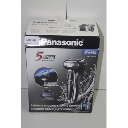 348 - GRADE U- BOXED PANASONIC 5 BLADE WET/DRY WASHABLE SHAVER MODEL: ES-LV95-S RRP-£149.99...