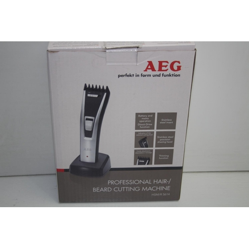 351 - GRADE U- BOXED AEG PROFESSIONAL HAIR/BEARD CUTTING MACHINE MODEL: HSM/R 5614...