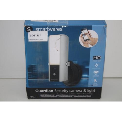 367 - GRADE U- BOXED SMARTWARES GUARDIAN SECURITY CAMERA & LIGHT HD MODEL: CIP-39901 RRP-£100...
