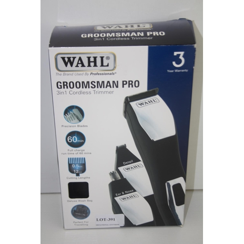 391 - GRADE U- BOXED WAHL GROOMSMAN PRO 3-IN-1 CORDLESS TRIMMER...