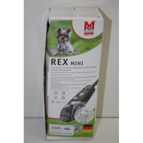 486 - GRADE U- BOXED MOSER ANIMALINE REX MINI PET CLIPPER TYPE: 1411 RRP-£45...