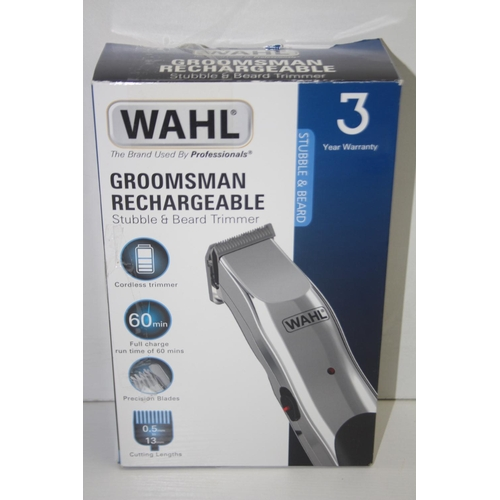 510 - GRADE U- BOXED WAHL GROOMSMAN RECHARGEABLE STUBBLE & BEARD TRIMMER...