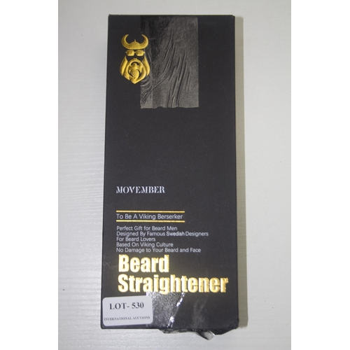 530 - GRADE U- BOXED MOVEMBER BEARD STRAIGHTENER RRP-£49.99...