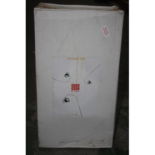 563 - GRADE B- BOXED HOME BY ARGOS CURVA FLOOR LAMP CHROME 432/4964 RRP-£30...