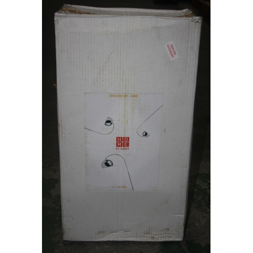 564 - GRADE B- BOXED HOME BY ARGOS CURVA FLOOR LAMP CHROME 432/4964 RRP-£30...