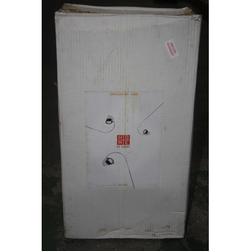 568 - GRADE B- BOXED HOME BY ARGOS CURVA FLOOR LAMP CHROME 432/4964 RRP-£30...