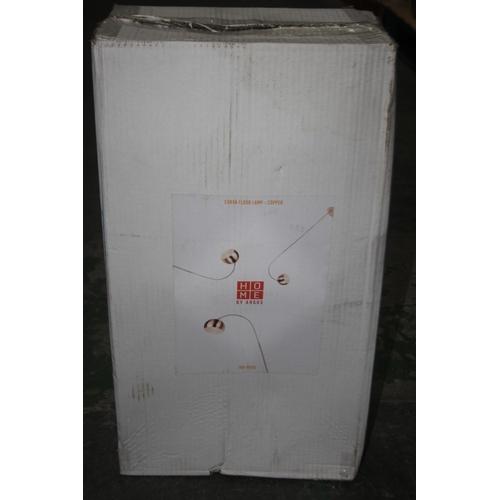 571 - GRADE B- BOXED HOME BY ARGOS CURVA FLOOR LAMP COPPER 709/8936 RRP-£30...