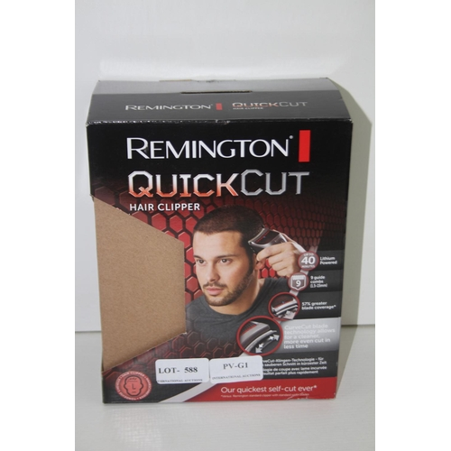 588 - GRADE U- BOXED REMINGTON QUICKCUT HAIR TRIMMER...