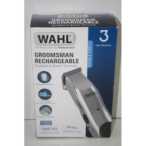 610 - GRADE U - BOXED WAHL GROOSMAN RECHARGEABLE 9916-1117...