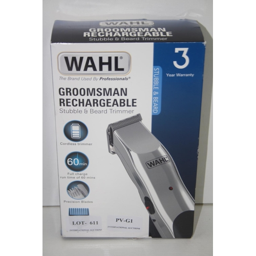 612 - GRADE U - BOXED WAHL GROOSMAN RECHARGEABLE 9916-1117...
