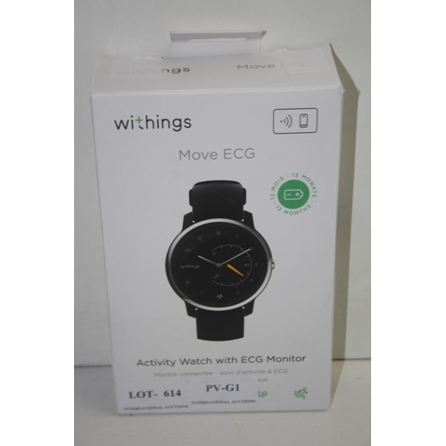 614 - GRADE U - BOXED WITHINGS MOVE ECG ACTIVITY WATCH RRP-£129.95...