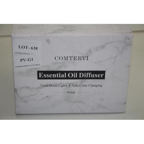 638 - GRADE U - BOXED COMTERVI ESSENTIAL OIL DIFFUSER 500ML...