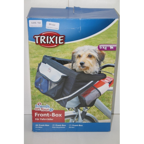 722 - GRADE U - BOXED TRIXIE 6KG FRONT BOX FOR BIKES 1299 RRP-£35...