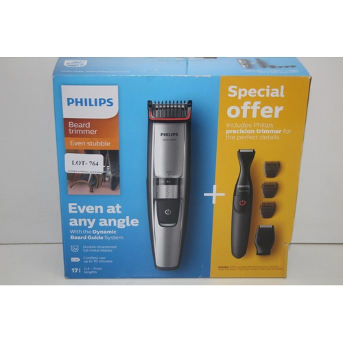 764 - GRADE U- BOXED PHILIPS BEARD TRIMMER EVEN STUBBLE SERIES 5000 RRP-£80...
