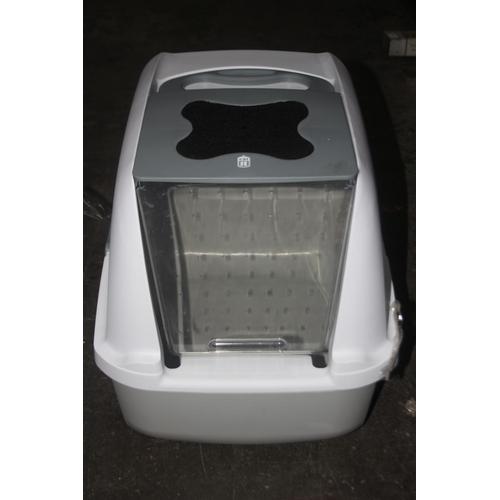 800 - GRADE U- UNBOXED CAT IT JUMBO CAT PAN WITH HOOD...