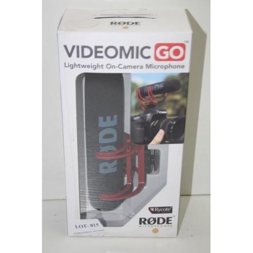 815 - GRADE U- BOXED RODE MIMICRPHONES VIDEOMIC GO LIGHTWEIGHT ON-CAMERA MICROPHONE RRP-£69...